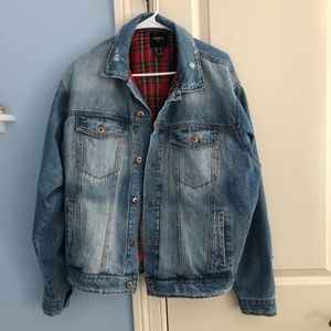 Forever 21 Distressed Oversize Jean Jacket